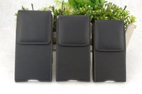 Wholesale leather cell phone belt pouch resale online - Smooth Crystal Oracle Pebbled PU Leather Holsters Universal Flip Cases Waist Bag Pouch with Belt Clip Loops Magnetic Closure for Cell Phones