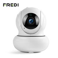 câmera de rede interna megapixel venda por atacado-FREDI 4X Zoomable Câmera IP 1080 P Auto Rastreamento Câmeras de Vigilância Wi-fi Rede Sem Fio PTZ CCTV Câmera de Segurança Em Casa