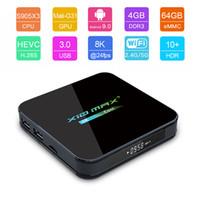 Wholesale android tv plus box resale online - Newest X10 MAX PLUS K TV Box Android Quad Core Amlogic S905X3 TV Box GB GB GB Dual WiFi Bluetooth