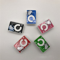 Wholesale new style card mp3 player for sale - Group buy Christmas Gift New Kitty Mini Clip USB Mp3 Player Mirror C Shape with Card Slot Support Micro SD TF Card Without Retail Box Model Style