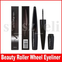 ingrosso rullo-Beauty Brand Cool Black Roller Wheel Eyeliner liquido Make Up Waterproof Eyeliner Pen Beauty Cosmetics Maquiagem