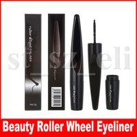 Wholesale pen wheels resale online - Beauty Brand Cool Black Roller Wheel Liquid Eyeliner Make Up Waterproof Eye Liner Pen Beauty Cosmetics Maquiagem