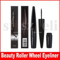 rouleau élévateur achat en gros de-Marque de beauté Cool Black Roller Wheel Eyeliner Liquide Make Up Pen Eye-Liner Imperméable Beauté Cosmétiques Maquiagem