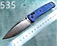 nuevo cuchillo de supervivencia del campamento al por mayor-Nuevos 535 cuchillo plegable mango de fibra de nylon S30V de hoja de bolsillo de supervivencia EDC cuchillos de acampada al aire libre Cuchillo plegable táctico
