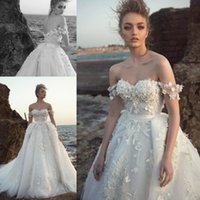 Wholesale beads detailing for sale - 2019 Wedding Dresses D Floral Appliqued Off The Shoulder Robe De Mariee Arabic Middle East Church Plus Size Bridal Gowns