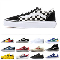 Wholesale adult gym shoes resale online - Unisex Adults Sneakers Sk8 hi Mens Womens Canvas Shoes Black and White check Designer Men Sneakers Trend Skateboard Flat Casual Shoes