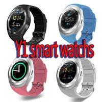 sehen sie kinder handy gps großhandel-Y1 Smartwatch für Android Smartwatch Samsung Handy Uhr Bluetooth für Apple Smartwatch PK U8 DZ09 GT08 mit Kleinpaket