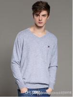 ingrosso uomini coreani v maglione-Maglione da uomo con scollo a V autunno e inverno da uomo nuovo maglione stampato sudcoreano sottile