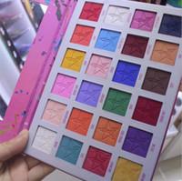 gölge tozu toptan satış-Ünlü Marka Göz Makyaj Paleti Yıldız 24 Renkler Göz Farı Paletleri Mat Pigment Preslenmiş Pudra Paleti Göz Farı