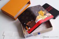 foto de uma peça longa venda por atacado-Top quality unisex pequeno curto bolsa Carteira das mulheres Monogrram lona Titular do cartão do bolso do couro do leão Bolsa Carteira carteira original M62089