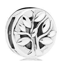 hayat kilidi toptan satış-Of Life Orjinal 925 Gümüş Charm Reflexions Thee tıpa Kilit Boncuk Fit Bilezik Bileklik Diy Takı Klip