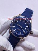data de relógio de luxo de mergulhador venda por atacado-Best Selling New Diver Date Homens de luxo Assistir 42mm azul Borracha Pulseira Onda 232.92.42.21.03.001 mecânico Automático Moda M