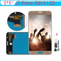 ingrosso schermo di scorrimento-LCD per Samsung Galaxy J7 Prime G610 Display LCD Digitizer con Touch Screen Assembly G610F G610K G610L G610S G610Y + Strumento di riparazione