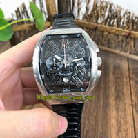 Wholesale leather watche for sale - Group buy NEW SARATOGE V SC DT COBRA Black Snake pattern Dial Japan VK Quartz Chronograph Movement Mens Watch Silvery Case Leather Strap Watche