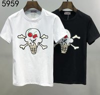 Wholesale ice cream clothes resale online - 2020 summer Italy Luxury Lovely ice cream skulls letter printing London Tee High Quality T shirt Men Women Clothes Cotton Casual T Shirt
