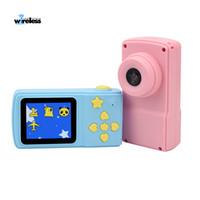 x1 destek toptan satış-X1 + HD Ekran Chargable Dijital Mini Kamera Çocuklar Karikatür Sevimli Kamera Oyuncaklar Açık Fotoğrafçılık destek muisc Çocuk Doğum Günü Hediyesi için oyna