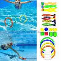 Wholesale dive toys resale online - Dive Torpedo Summer Torpedo Rocket Throwing Toy Funny Swimming Pool Diving Game Toys Children Underwater Dive