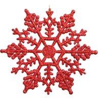 acryl bäume für hochzeit dekorationen großhandel-Acryl Weihnachten Schneeflocken Haus Christbaumschmuck für zu Hause hängen Ornamente Urlaub Nizza Weihnachtsgeschenk Hochzeit