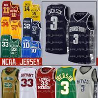 Wholesale nylon 11 resale online - NEW MEN Iverson NCAA Joel Ben Embiid Simmons Young Trae Tyler Jayson Herro Tatum college Basketball Jerseys