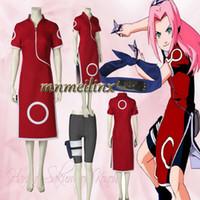 Wholesale sakura haruno cosplay for sale - Group buy Hot New Anime Naruto Haruno Sakura Cosplay Costume Cheongsam Cartoon Character Naruto Women Costume Customized Halloween Clothes