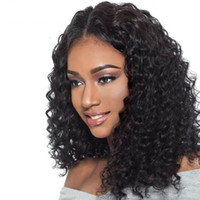 Wholesale indian virgin swiss lace wig for sale - Group buy 360 Lace Frontal Human Hair Wig Water Waves For Black Women Remy Pre Plucked Malaysian Virgin Lace Front Wigs With Baby Hair