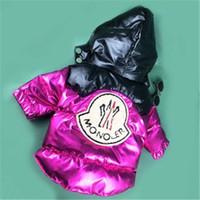 ceket satışı ücretsiz gönderim toptan satış-Yeni Moda Lüks Marka Kış Köpek Aşağı Hayvan Katı Renk Yüksek Kalite Giyim Köpek Sıcak Satış Sıcak Coat Ücretsiz Kargo