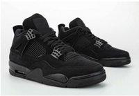 gato zapatos al aire libre al por mayor-Caliente 4 4s hombres zapatos de baloncesto para hombre j4 Gato Negro zapatillas de deporte al aire libre ropa de calle US12