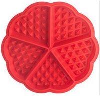 silicona en forma de corazón para hornear al por mayor-Envío Gratis 150 unids / lote forma de corazón galletas de silicona molde fabricante de galletas molde de pastel de silicona herramientas para hornear moldes para hornear