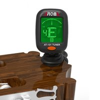 Wholesale tuner online - AT AROMA Guitar Instrument Tuner Guitar Bass Ukulele Electrical Digital Clip Tuner digital Tuner easy to use