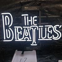 ingrosso batte il segno al neon-THE BEATLES Neon Sign Bar Holiday Display Decorazione pubblicitaria Personalizzata Montato su vetro Real Light Metal Frame 17 '' 20 '' 24 '' 30 ''