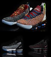 purchase cheap 64a9c 7e121 2019 New Lebron 15 Mens Basketball-Schuhe James What the Lebron 16  Mehrfarbig Durch Oreo FRISCHE BRED Sportschuhe Sneaker LBJ Lebrons