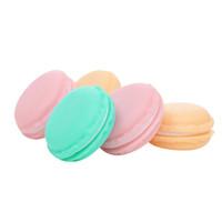 dulces pendientes de venta al por mayor-Mini Macarons la caja de almacenaje Organizador bolsa que lleva de caramelo Organizador Organizadora Para pendiente de la joyería de la torta de caramelo caliente de la venta