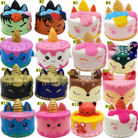 sevimli denizkızı oyuncağı toptan satış-Yumuşacık Toys squishies Tavşan kaplan boynuzlu at kek panda ananas ayı pasta denizkızı Yavaş Rising sıkın Sevimli Kayış hediye MMA1923-6