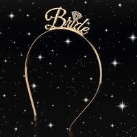 brautduschengeschenke braut großhandel-1 stück Braut Brautjungfer Tiara Crown Stirnband Bachelorette Party Braut Hochzeit Brautdusche Mädchen Nacht Dekoration Geschenke