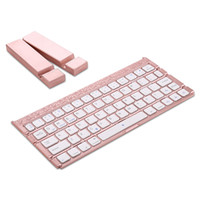 Wholesale 9.6 android tablet resale online - Four Folding Portable Mini Wireless Bluetooth ABS Plastic Keyboard for iPhone Android Cell Phone iPad Tablet Universal