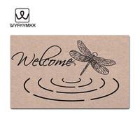 ingrosso tappeti benvenuti-Stuoie divertenti d'ingresso della porta d'ingresso Benvenuto zerbini di stuoie di benvenuto all'aperto stuoia di stoffa all'aperto di stuoia di benvenuto intrecciato
