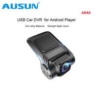 usb gizli video kamera toptan satış-USB Araba DVR Kamera Araba merkezi konsol Oyuncu için Android 4.2 4.4 5.1.1 6.0 7.1 8.0 Mini Gizli Sürüş Video kaydedici W / ADAS