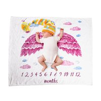 Baby Photography Props Blanket Moon Flour Swaddle Blanket Sleeping Swaddle Wrap Super Soft Flannel Milestone Play Mat