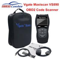 авто-считыватель автомобильного кода оптовых-Оригинал Vgate VS890 OBD2 Code Reader Сканер Maxiscan VS-890 Автоматический Диагностический Сканер Инструмент Для OBD2 OBDII Протоколы 12 В Автомобили