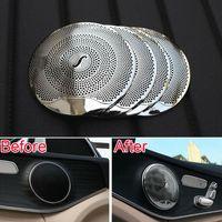 Wholesale car style audio for sale - 4pcs car styling car audio speaker door loudspeaker trim sticker cover for Mercedes Benz GLC E class benz W213 C class W205