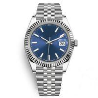 мужчины оптовых-Горячие мужчины роскошные часы Топ AAA 41 мм Datejust стальной синий циферблат механические автоматические Марка Reloj бизнес мода президент Desinger наручные часы