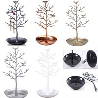 Wholesale showcase display jewelry watch for sale - Group buy Multi Colors Bird Tree Earrings Ring Jewelry Stand Etagere Showcase Jewelry Watch Display Organizer Holder Show Rack Packaging