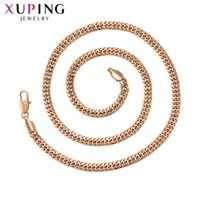 Wholesale environmental necklaces resale online - 11 Xuping Fashion Trendy Temperament Necklace Environmental Copper for Men Black Friday Jewelry Gift S215