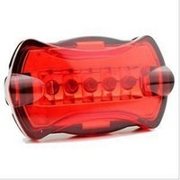 Wholesale bike for sale - 5 Led Red Warn Bicycle Taillight Attract In Night Riding Led Battery Power Bike Taillight For Warn Accessories Lamp ZZA225