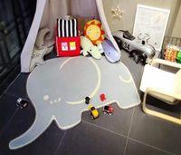Wholesale elephant baby decor resale online - Elephant Shaped Carpet Kids Baby Play Mats Cartoon Carpet Rugs Rawling Blanket Flooring Mat For Kids Babies Game Room Decor