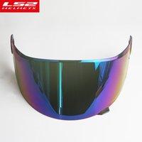 ls2 kask lens toptan satış-Orijinal LS2 FF358 motosiklet kask Cam güneş kalkanı tam yüz motosiklet kask mercek çizilmez Çok renkli güneşlik