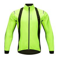 reflektierendes fahrrad langarmtrikot großhandel-WOSAWE herren Radjacken Winddicht Warm Fleece Winter MTB Fahrrad Reiten Jersey Outdoor Sport Mantel