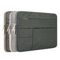 14 moda dizüstü bilgisayar çantası toptan satış-Moda Fermuar Bilgisayar Kol Çantası Macbook Laptop Için Hava PRO Retina 11 12 13 14 15 13.3 15.4 15.6 inç Dizüstü Dokunmatik Bar Çantası