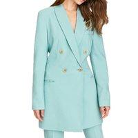 blazer feminino achat en gros de-Automne blazer femme 2019 casual solide vêtements pour femmes manteau à manches longues femmes long blazer feminino