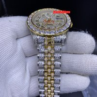 Wholesale dial scales resale online - Boutique Men s Fashion Watches Stainless Steel Diamond Watch Gold Diamond Dial Fashion Hot Sell Watch Roman Scale Automatic Calendar Watch